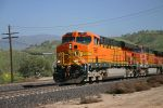 BNSF 7667 Leads an Intermodal down passed Bealville